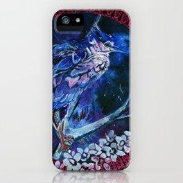 Dark-crowned Night Heron and Tamarisk iPhone Case