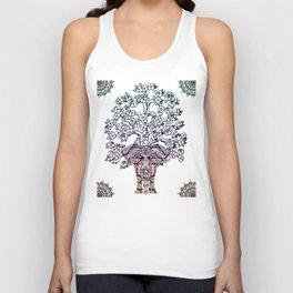 Indian Elephant Tree Of Life Unisex Tank Top