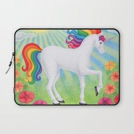 daydreamer (rainbow unicorn), sunshine, petunias Laptop Sleeve