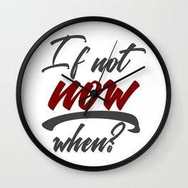 Stop Procrastination No Inertia Act Now Wall Clock