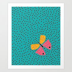 Butterfly with dots Art Print