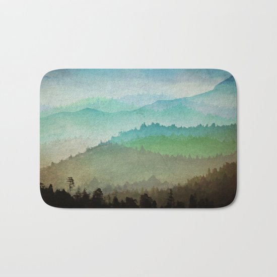 Watercolor Hills Bath Mat