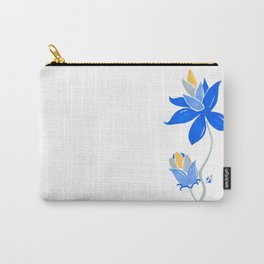 Abstract blue flower Carry-All Pouch