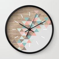 wood Wall Clocks featuring Archiwoo by Marta Li