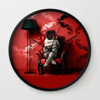 darth Wall Clocks featuring Darth by EarlyHuman