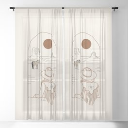 Lost Pony - Rustic Sheer Curtain