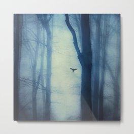 waning lines - trees in fog Metal Print