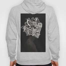 Lady with Birds(portrait) Hoody