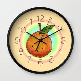 Cutie Orange Head Wall Clock