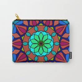Hand-drawn colored mandala Carry-All Pouch