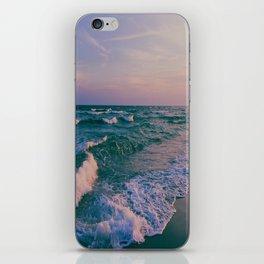 Sunset Crashing Waves iPhone Skin