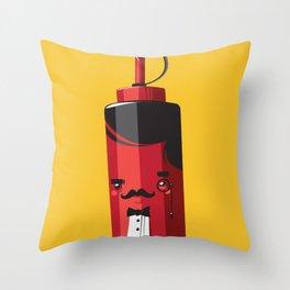Fancy Ketchup Throw Pillow