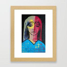 She Thinks Framed Art Print