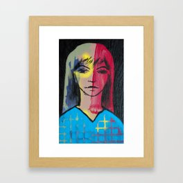 She Thinks Framed Art Print