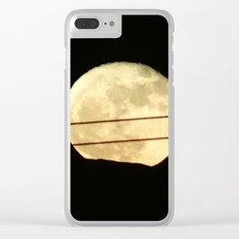 Super Moon Rises behind Mountain Clear iPhone Case