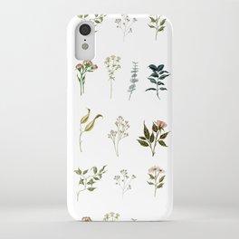 Delicate Floral Pieces iPhone Case