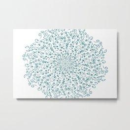 Teal lace Metal Print