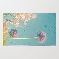 garden Area & Throw Rugs featuring Garden by Cassia Beck