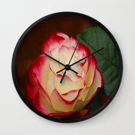 Cherry Parfait Rose Wall Clock