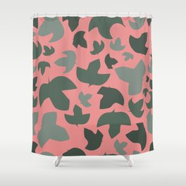 Ivy on pink Shower Curtain