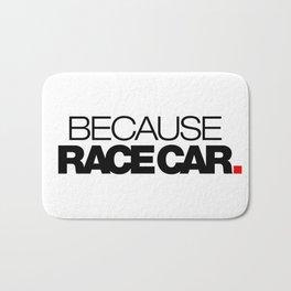 BECAUSE RACE CAR v1 HQvector Bath Mat
