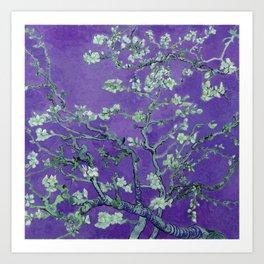 "Vincent van Gogh ""Almond Blossoms"" (edited purple) Art Print"