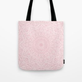 Most Detailed Mandala! Rose Gold Pink Color Intricate Detail Ethnic Mandalas Zentangle Maze Pattern Tote Bag