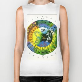 Chinese Lunar constellations color Biker Tank