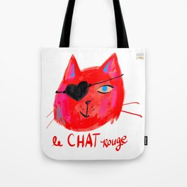 Le Chat Rouge Tote Bag
