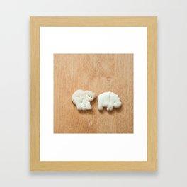Animal Crackers - wood1 Framed Art Print