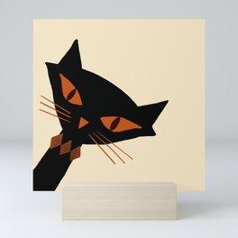 Spooky Halloween Cat Mini Art Print