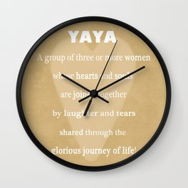 YaYa Typography Wall Clock