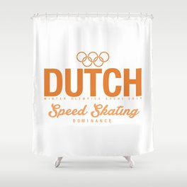 Dutch - Speed Skating Shower Curtain