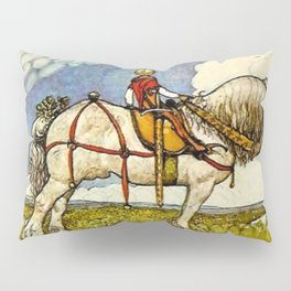 """""""Out Into the Wide World"""" by John Bauer Pillow Sham"""