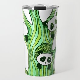 Green Panda Tree Travel Mug