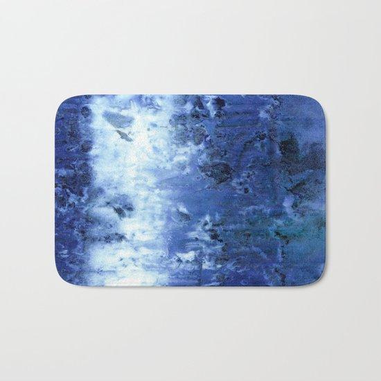 Saltwater Silk Blue Bath Mat
