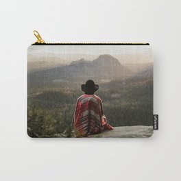 """Sunrise on top of """"Kleiner Winterberg"""" in Saxon Switzerland/Germany Carry-All Pouch"""