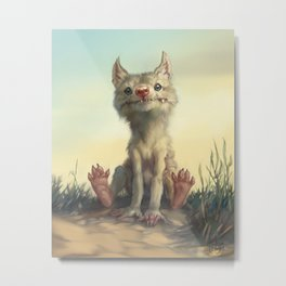The Coyote Child Metal Print