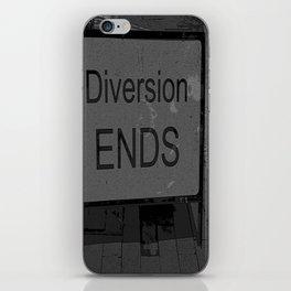 Diversion Ends iPhone Skin