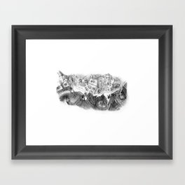 Roof Top View Framed Art Print