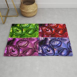 PSYCHEDELIC ROSES Rug