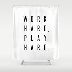 Blackwhite Words And Writing Shower Curtains Society - Shower curtain with words