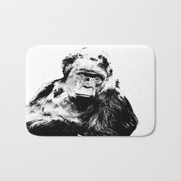 Gorilla In A Pensive Mood Portrait #decor #society6 Bath Mat