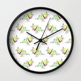 Neon Bird Wall Clock