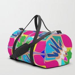 Tropical Shapes Pink Duffle Bag