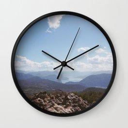 lago lacar from mirador miralejos Wall Clock