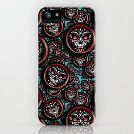 Cute Skull Maori iPhone Case