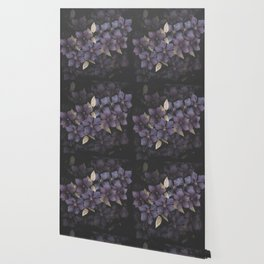 Faded Clematis in Purple Wallpaper