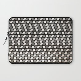 Irregular Chequers - Black Steel and Stelel - Industrial Chess Board Pattern Laptop Sleeve