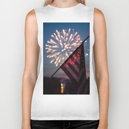 """""""And the rockets' red glare..."""" Biker Tank"""